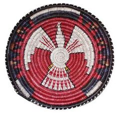 Navajo Eagle Basket By Bessie Holiday
