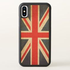 Pre- Order  Pre-order today! Your design will be made and shipped as soon as our manufacturers are ready to begin production.  Vintage Union Jack British Flag iPhone X Wood Case  $42.20  by ReligiousStore  - cyo diy customize personalize unique