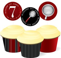 Spy Birthday Party Cupcake Package