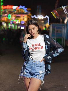 bccf6ceef8f Girl Power Shirt, Feminist Tshirt, Feminism T-shirt, Womens March Clothes,  Girl Power Tshirt, Fashion Roses Tees for Friends