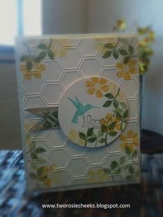 Stampin' Up! Bloomin' with Marvelous - another tip - stamp then emboss - I need all the tips I can get!