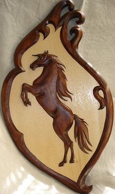 Wooden Horse Wood carving Horse Carving wall Horse by Artwood6