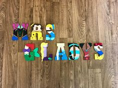 Disney Princess inspired wooden letters - custom designed and hand painted! Our letters are made with acrylic paints and brought to life through glitter and foam attachments! Whether it is Moana, Jasmine, Belle, Elsa, Snow White, Cinderella, Rapunzel, Ariel, Tinkerbell, or any of the other Disney Princesses, we can create the perfect letter for you! Please read the entire description before ordering… Disney Princess Letter, Disney Letters, Disney Names, Disney Princess Birthday Party, Disney Stuff, Painted Letters, Wood Letters, Hand Painted, Disney Diy