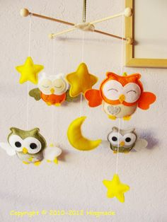 @Anna Kreeft Baby Mobile  Nursery Mobile  Hanging Mobile  Baby Crib by hingmade, $83.00