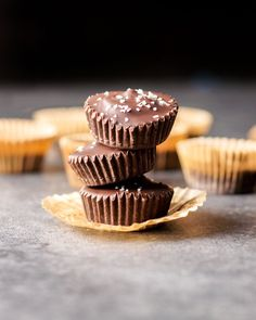 These Mini Vegan Peanut Butter Cups are a must for chocolate and peanut butter lovers. Only 5 ingredients needed for these no-bake treats!