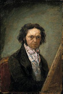 """Autorretrato de Goya ~ Self-portrait ~ 1796-1797~ Museo del Prado ~ Francisco Goya (Spanish, 1746-1828) ~ Francisco José de Goya y Lucientes was a Spanish romantic painter and printmaker. He is considered the most important Spanish artist of late 18th and early 19th centuries ~ Goya befriended Francisco Bayeu, and married Bayeu's sister Josefa (he nicknamed her """"Pepa"""")."""