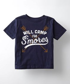 Love this Navy 'Will Camp for S'mores' Tee - Toddler & Kids on #zulily! #zulilyfinds