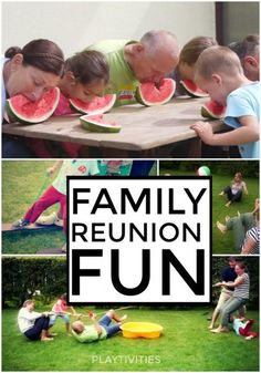 These family games will make your family reunion unforgettable. - - These family games will make your family reunion unforgettable. These family games will make your family reunion unforgettable. Family Reunion Activities, Family Fun Games, Family Game Night, Family Day, Summer Activities, Family Reunions, Family Picnic Games, Family Outdoor Games, Indoor Activities