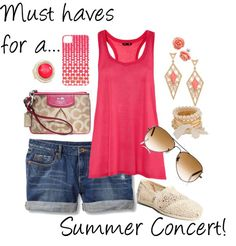 """Summer Concert outfit"" by klallebach on Polyvore"
