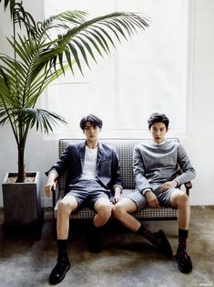 Sehun + Chanyeol and their legs/socks...