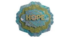 Hope Scrapbook Embellishment paper piecing by itsmemanon on Etsy, $2.00