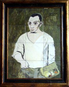 YOUNG PICASSO -VERSION (Joven Picasso -Versión) - 78x63 cm= 31x25 in - ASK FOR PRICE (Pregunta precio)