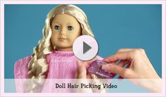 Doll Hair & Care | Play at American Girl American Girl Doll Hair Care, American Girl Crafts, American Girl Doll Videos, My American Girl, Ag Doll Hairstyles, American Girl Hairstyles, Little Girl Hairstyles, Baby Doll Hair, Girl Salon