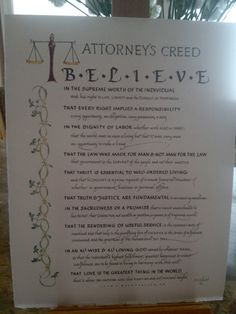 Attorney's Creed