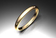 Alianza de oro rojo de 18K modelo Media caña alta Ref.: 750ROJ25MCALTAOro rojo de 18Kmodelo Media caña alta. #bodas #alianzas #novia | cnavarro.com