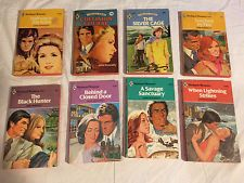 Lot of 8 JANE DONNELLY vintage HARLEQUIN ROMANCE all red edge HALFWAY TO STARS