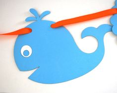 Whale Banner Baby shower whale Under the sea Party  by Mariapalito, $24.90