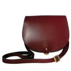 46cd837691 Leather Saddle Bag In Oxblood by N Damus London
