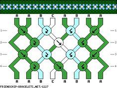 friendship bracelet patterns - 8 strings 4 rows 3 colors