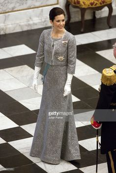 Crown Princess Mary Of Denmark Attend The New Year Court For Diplomats At Christiansborg Palace In Copenhagen, Denmark. (Photo by Julian Parker/UK Press via Getty Images)