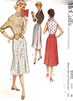 1950s Misses Slim Skirt