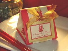 Asian Origami Favor Boxes