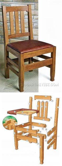 Dining Room Chair Plans   Furniture Plans And Projects | WoodArchivist.com  #woodworkingbench
