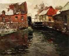 Frits Thaulow (Norwegian, 1847-1906)  The Mill  c. 1895