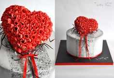 Love is in the air. Romantic cake for couple.