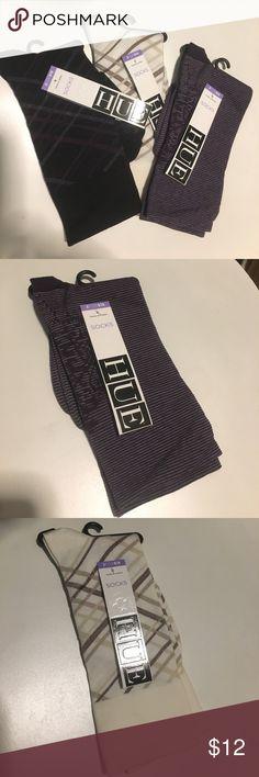 Hue Socks- 3 pack Ultrasmooth Sock. 98% Nylon, 2% Spandex. One Size. HUE Accessories Hosiery & Socks