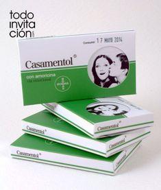 """INVITACIÓN """"CAJA MEDICAMENTO CASAMENTOL"""""""