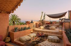 Hotel / events / spa / rooftop in Marrakech Related posts:Terrace decoration inspirationBrooklyn roof garden Julie Farris by Matthew WilliamsTo inspire your own modern rooftop deck transformation, here are 10 examples of . Outdoor Lounge, Outdoor Spaces, Outdoor Living, Outdoor Decor, Rooftop Terrace Design, Rooftop Garden, Rooftop Lounge, Moroccan Interiors, Moroccan Decor