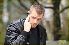 Joel Kinnaman Looks Leather Jacket Cool on 'The Killing' Set: Photo Joel Kinnaman works his leather jacket while filming on the set of The Killing on Thursday (March in Vancouver, Canada. Joel Kinnaman, Celebs, Celebrities, On Set, Vancouver, Photo Galleries, Rings For Men, Bomber Jacket, Leather Jacket