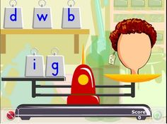 Scales game: find the initial sound Learning Phonics, Teaching, Initial Sounds, Literacy, Activities, Games, Initials, Beginning Sounds, Gaming