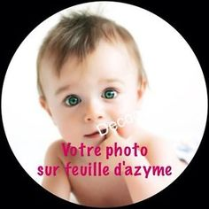 LOGO Entreprise Disque-Feuille-Azyme-Comestible-Pr-Gateau-Impression-Photo-Personnalise