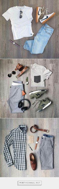 3 Cool Outfit Grids For Men. #mensfashion #outfitvrids #fashion