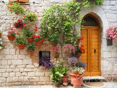 HANGING FLOWERS POTS! Get the Tuscany Look On Your Home!  http://www.simplenaturedecorblog.com/tuscany-look-hanging-flower-pots/