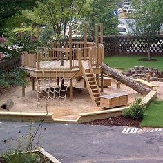 "Tree Decks around a new tree that will grow out to make a large shade leafy ""r… – Natural Playground İdeas Kids Outdoor Play, Outdoor Play Spaces, Kids Play Area, Backyard For Kids, Backyard Projects, Outdoor Projects, Outdoor Fun, Natural Outdoor Playground, Tree Deck"