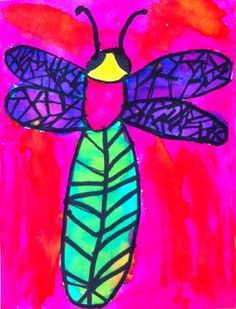 Art Projects for Kids: Watercolor Dragonfly