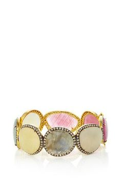 One of a kind royal regalia bracelet by LAUREN CRAFT COLLECTION Preorder Now on Moda Operandi