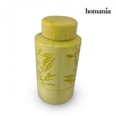 Tibor Stoneware Yellow (13 X 13 X 25 Cm) By Homania