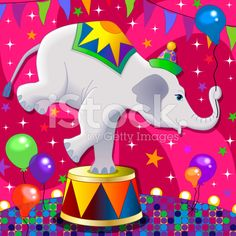 white circus elephant doing a trick royalty-free stock vector art