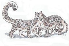 Athari's Snowleopards by ebonytigress on DeviantArt