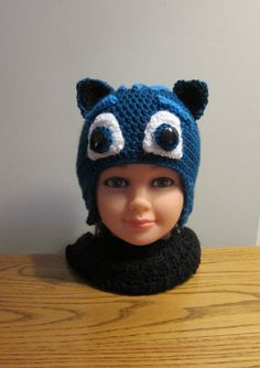 Ready to Ship Crocheted Hat. Inspired by my grandchildren's love for Catboy from PJ Mask,Crochet, boy, Hat, Detailed, fun, warm by (null) on Etsy (null)