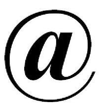 This is an example of a symbol that has no resemblance to what it means. This symbol is usually connected to internet or e-mail when it is essentially the letter a with a circle around it. The symbol has no correlation with its meaning.