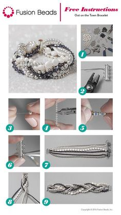 This bracelet is definitely a favorite! It looks so chic and elegant, and the best part is that beginning beaders can use the simple stringing technique to make this fun design in just a few easy steps.