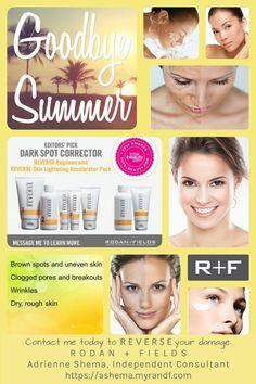 Sun damaged skin? Reverse the damage with RODAN + FIELDS.