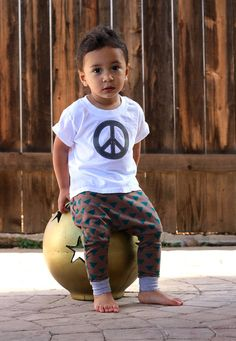 Cafe and Teal Triangle Tribal Print Harem Pants: Etsy Kid's Fashion Baby Girl Baby Boy Toddler Girl Toddler Boy