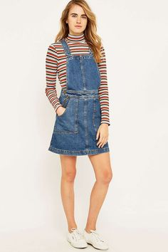 34895884c9e9 Urban Outfitters Denim Dungaree Dress Denim Dungaree Dress