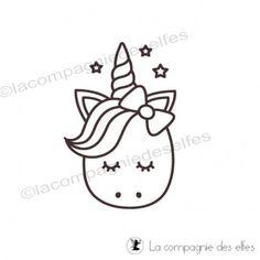 Tampon licorne, unicorn stamp, la compagnie des elfes.